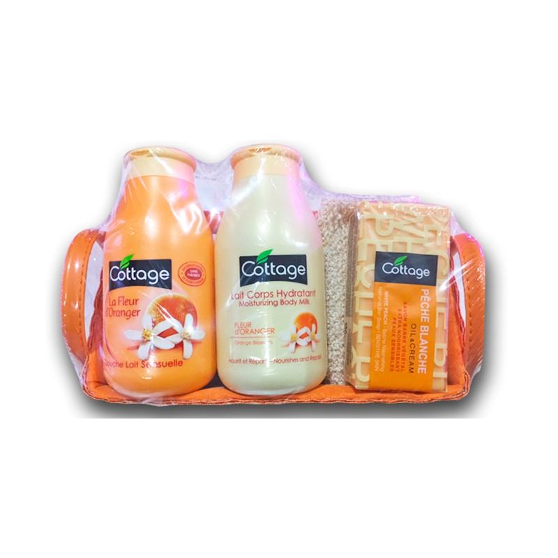 Coffret douche, lait et savon fleur d'oranger