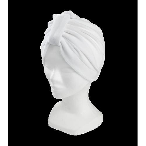 Bonnet turban blanc